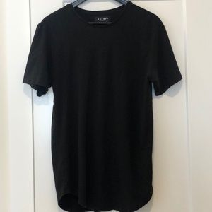 PacSun black basic scallop fit tee size Large